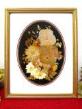 <英国ビンテージ>たくさんの野の花たちの押し花♪貴重で珍しい英国の長方形の2WAYの額