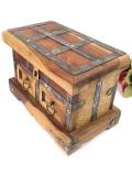 <英国ビンテージ>ぶ厚いパイン材♪カントリーな空気がいっぱいの引き出し付きの木箱