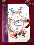 <英国ビンテージ>「The Victorian Photograph Album」♪ヴィクトリアンなお花たちが優雅で大きなフォトアルバム