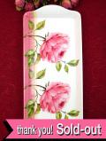 <デッドストック・未使用品>優雅なオールドローズの静物画♪しっかりとした樹脂製の長方形の大きなトレイ