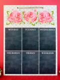 <英国ビンテージ>優雅なバラのお花たち♪木のぬくもりがあたたかいカントリーで大きなブラックボード