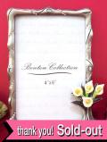 1950年代:立体的なカラーのお花♪シルバーメタルとクリスタルガラスが美しいフォトフレーム