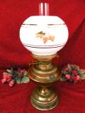 1910年代:エドワーディアン時代♪真鍮細工が美しい英国アンティークの大きなオイルランプ