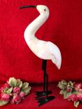 <英国ハンドメイド>大きな白い鳥さん♪とても大きくてアートフルな英国の置物