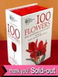 <英国王立園芸協会:デッドストック>「100 FLOWERS」100枚のお花のボタニカルアートのポストカード「ケース入り」