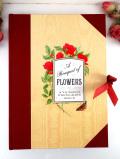 <英国ビンテージ>「A Bouquet of FLOWERS」ヴィクトリアンなお花たちがきれいな優雅で大きなフォトアルバム