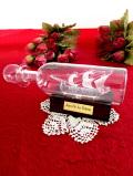 <英国ハンドメイド>「Jean De La Valette」ガラスの帆船♪とても珍しい素晴らしいガラス細工のボトルシップ「お箱:木製台座付」