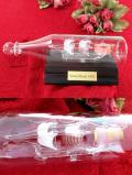 <英国ハンドメイド>「Santa Maria 1492」ガラスの帆船♪とても珍しい素晴らしいガラス細工のボトルシップ「お箱:木製台座付」