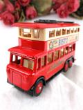 <DAYS-GONE:未使用品>ダイキャスト♪「BISTO」英国のクラシックなロンドンの2階建てバス「お箱入り」
