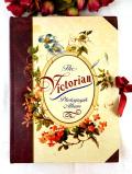 <英国ビンテージ>「The Victorian Photograph Album」♪ヴィクトリアンなお花たちがきれいな優雅で大きなフォトアルバム