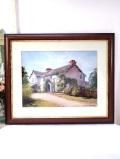 <Denis Harper>「Hilltop Farm house」♪横58cmビアトリクス・ポターさんのコテージの風景の大きな額