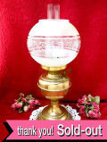 1910年代:高さ54cm♪真鍮細工が美しい英国アンティークのとても大きなオイルランプ