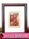 <フラワーフェアリー>「THE SONG OF THE LORDS-AND-LADIES FAIRY」♪可愛いテンナンショウの妖精さんの額装