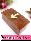 1940年代:真鍮細工の錨の紋章♪無垢のクルミの木で作られた木箱