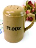 <英国ビンテージ>カントリーな英国ストーンウェアの珍しくて大きな小麦粉ボトル