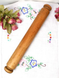1920年代:素朴で暖かみのある英国アンティークの太い木製ローリングピン