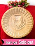 <英国ビンテージ>レア♪とても貴重な英国の愛らしい木製のアザミのお花のぶ厚いモールド