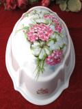 <英国ビンテージ>ゼラニウムのお花が優雅なとても大きな陶器のモールド