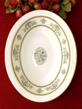 <MINTONS>「HENLEY」♪優雅なお花たちと金彩が美しい伝統的なパターンの楕円形の深大きな深皿