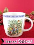 <クィーンズ>ビアトリクス・ポター:ピーター君と家族とお母さんの可愛いマグカップ