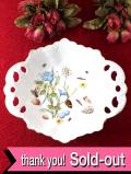 <エインズレイ>英国カントリーサイドの野の花たち♪透かし模様も美しい大きな深皿