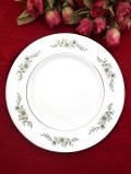 <廃盤レア♪ウェッジウッド>「WESTBURY」♪直径21cm可憐なお花たちと珍しい銀彩が上品なブレッドプレート