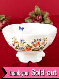 <エインズレイ>「COTTAGE GARDEN」優しい英国のお花たち♪とても優雅で大きな台座付きボウル