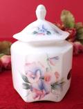 <エインズレイ>「LITTLE SWEETHEART」英国のスィートピーのお花たちと蝶々♪ロマンチックなフォルムのポーセリンBOX