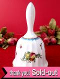 <SPODE>愛らしいたくさんのフルーツとお花たち♪金彩も優雅な陶器の大きなベル