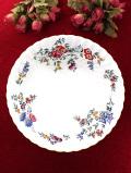 <廃盤レア♪ウェッジウッド>「AVEBURY」の上品なお花たちが美しいとても大きなボウル「ディスプレイスタンド付」