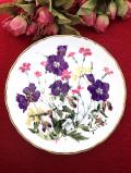 <ロイヤルアルバート:限定品>「Meadow Pinks」♪素晴らしく豪華なワイルドフラワーの大きな絵皿「パンフレット&証明書&スタンド付」