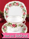 <廃盤レア♪コルクロウ>」英国カントリーサイドのバラのお花たち♪金彩も美しいトリオ:4480円→3580円