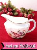 <ROYAL CROWN DERBY>「DERBY POSIES」バラのお花のブーケ♪たっぷりとした金彩も輝く大きなミルクジャグ