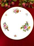 <ROYAL WORCESTER>華やかな薔薇のブーケ♪直径28cm金彩も美しいとても大きなケーキプレート「お箱付」