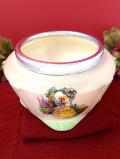1940年代:イングリッシュガーデンのレディ♪シルバープレートと陶器のコラボレーションが美しいとても大きなボウル