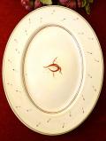 <廃盤レア♪ スージー・クーパー>1935年:「アカデミーパターン」とても貴重なスージーさんのアートフルなお花たちの楕円形の特別大きなお皿