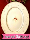 <廃盤レア♪ スージー・クーパー>1935年:「アカデミーパターン」とても貴重なスージーさんのアートフルなお花たちの楕円形の特別大きなお皿:通常価格8980円→