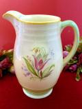 1940年代:優雅なチューリップとイングリッシュ・ブルーベル♪英国のお花たちがきれいな大きめウォータージャグ