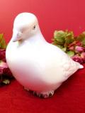<ポルトガル製>素晴らしい陶器細工の白いハトさん♪とても大きなポーセリンフィギュア
