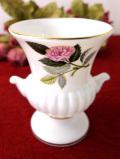 <ウェッジウッド>1956年:廃盤レア♪ピンクの薔薇ハサウェイローズ♪ボーンチャイナに咲いた優雅なバラのフラワーベース
