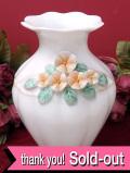 1940年代:陶器細工のロマンチックなお花たち♪優しいフォルムのフラワーベース