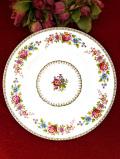 <ROYAL GRAFTON>1950年代:ロマンチックなお花たち♪直径27.5cmの大きなディナープレート:価格4980円→