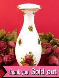<ROYAL ALBERT>「OLD COUNTRY ROSE」オールドカントリーローズ♪美しいバラと22カラットゴールドのフラワーベース