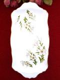 1950年代:白いユリのお花たち♪金彩もきれいなサンドイッチプレート