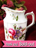 <ROYAL CROWN DERBY>英国の愛らしいお花たち♪「Derby Posies」の優雅なミルクジャグ