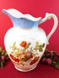 1920年代:白と赤のカメリアのお花♪5000cc!ロマンチックなお花たちのとてもとても大きなウォータージャグ