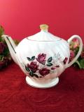 <SADLER>1950年代:英国の優雅なバラたち♪ぽったりとぶ厚い陶器のティーポット