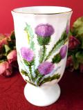 <Royal Vale>紫色のアザミのお花♪優雅なフォルムの陶器のフラワーベース