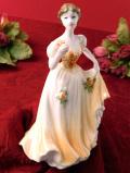 <COALPORT>「DEBUTANTE OF THE YEAR 1995 Rose Ball」♪エレガントなヴィクトリアンレディの優雅なフィギュア