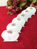 <QUEENS>レア♪1950年代:美しい陶器のお花のネームスタンド「5個セット」